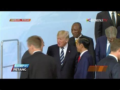 donald trump vs jokowi foto bersama presiden jokowi bersebelahan dengan trump