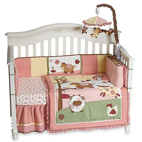 cocalo bedding set cocalo abby s farm 4 piece crib bedding set buybuy baby