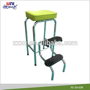 Metal Step Stool With Seat by Metal Kick Step Stool With Pvc Padded Seat Buy Step