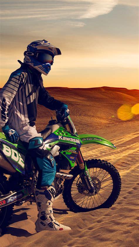 Wallpaper HD iPhone X, 8, 7, 6   Motocross Desert   Free
