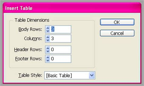 Insert Table In Indesign by Indesign Insert Table Graphic Design Courses