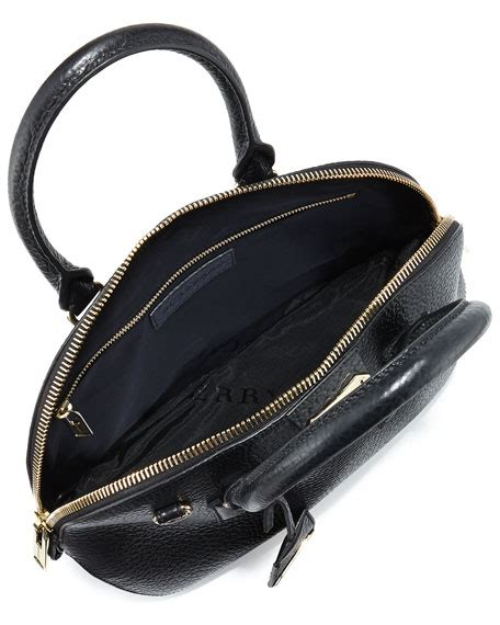 Burberry Dome Satchel by Burberry Small Domed Zip Satchel Bag Black