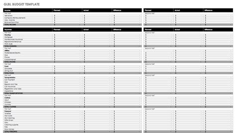 list of monthly expenses template or monthly balance sheet excel
