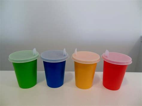 Tupperware Sippy Cup tupperware cups with sippy lids set of four toddler by