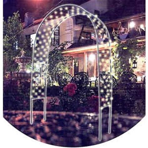 Garden Arch With Lights 7 Foot Garden Arch With White Lights Co Uk