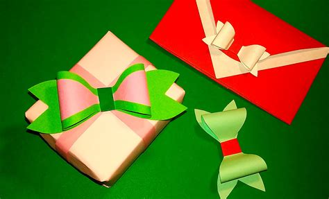 easy paper bow without ribbon or wrapping paper gift box