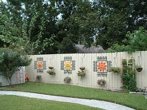backyard fence decorating ideas decorate your fence before and after photos