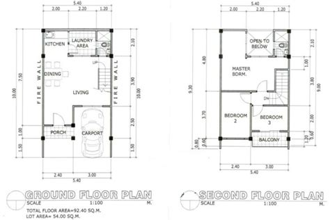 Redwood Subdivision House For Sale At Sm Consolacion Cebu 54 Sqm House Plans