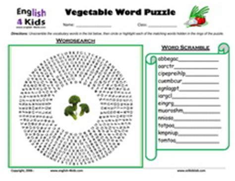 p word vegetables vegetable scramble worksheet