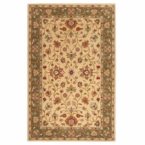 decorators collection rugs home decorators collection warwick gold and green 8 ft x 11 ft area rug 0256540530 the home