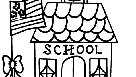 school house coloring page intended to invigorate to color