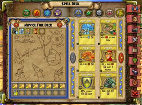 deck of wizard spells card template treasure cards wizard101 free