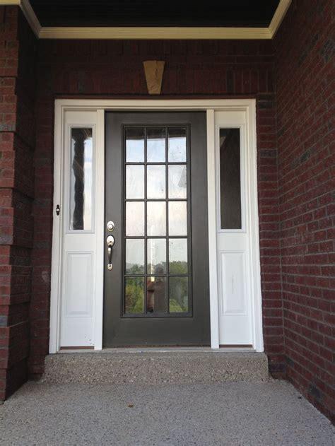 grey front door entry door