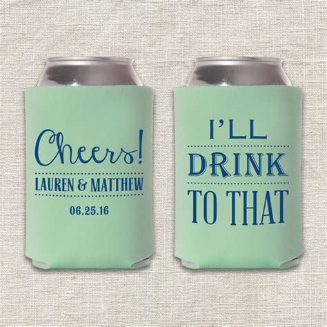 Wedding Koozies by Cheers I Ll Drink To That Wedding Koozie Wedding Ideas