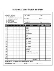Electrical Outlet Template by Electrical Contract Template Fill Printable