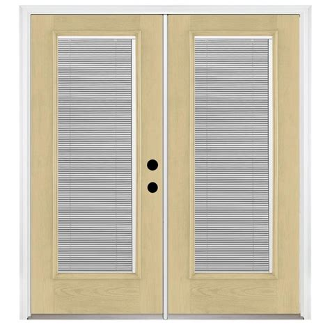 Lowes Patio Door Blinds Shop Benchmark By Therma Tru 70 5625 In Blinds Between The Glass Fiberglass Inswing Patio