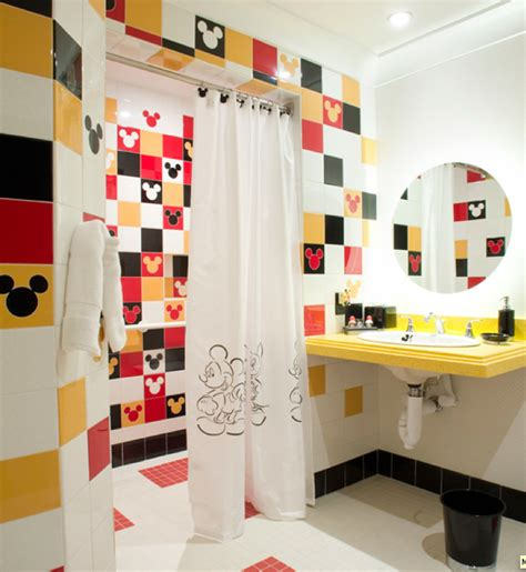 disney bathroom ideas mickey mouse decorating on a cheapskate princess budget