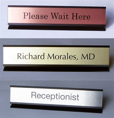 Office Desk Name Plates Office Desk Name Plates Custom Metal Office Signs Desk Signs