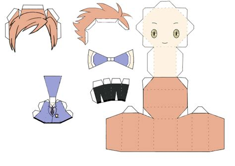 Papercraft Anime - kaoru hitachiin papercraft template by groncaloncia on