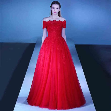 boat neck prom dress red prom dress 2016 a line boat neck off shoulder sexy