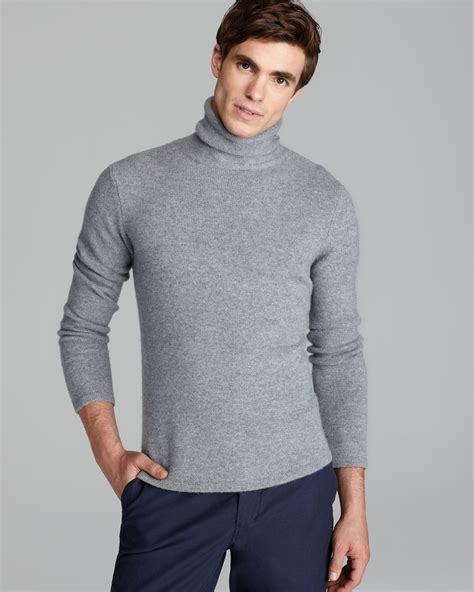 light blue turtleneck mens lyst steven alan terrence cashmere turtleneck sweater in