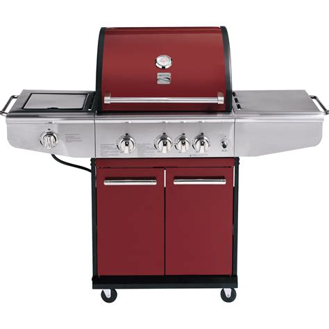 backyard grill 3 burner gas grill kenmore 3 burner gas grill with back burner red outdoor living grills outdoor