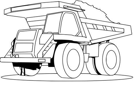 Coloriage Camion Benne Dessin 224 Imprimer Sur Coloriages Info