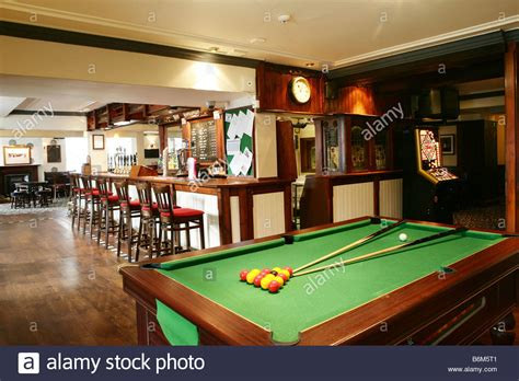 bars with pool tables pool table in a pub bar stock photo royalty free image