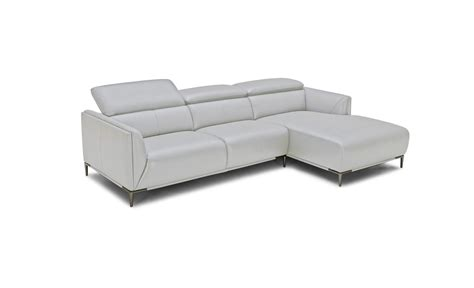 light grey leather sofa vig divani casa belfast light grey m9015 leather sectional