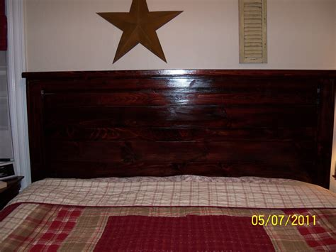 king size wood headboard ana white my first project reclaimed wood look headboard