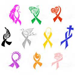16 cause ribbon vector graphic images cancer awareness