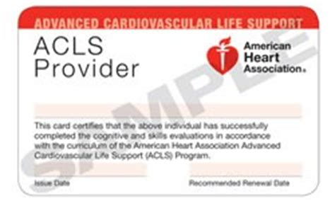 acls card template all care health services american association aha