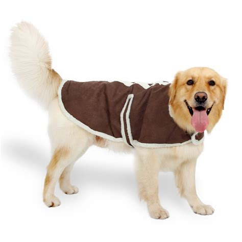 jacket for dogs large clothes suede fabric clothes winter warm clothing for dogs jacket pet