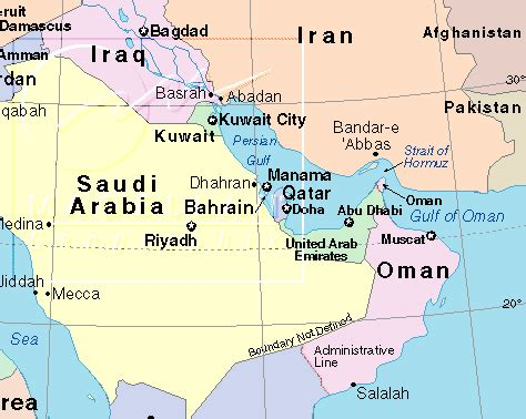 map of arab gulf states gulf states and security issues