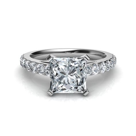 shared prong princess cut engagement ring