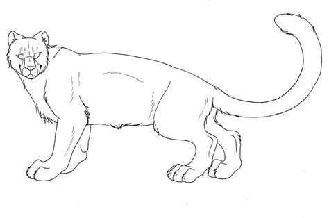 snow tiger coloring page snow leopard lineart by kaeda adoptables on deviantart