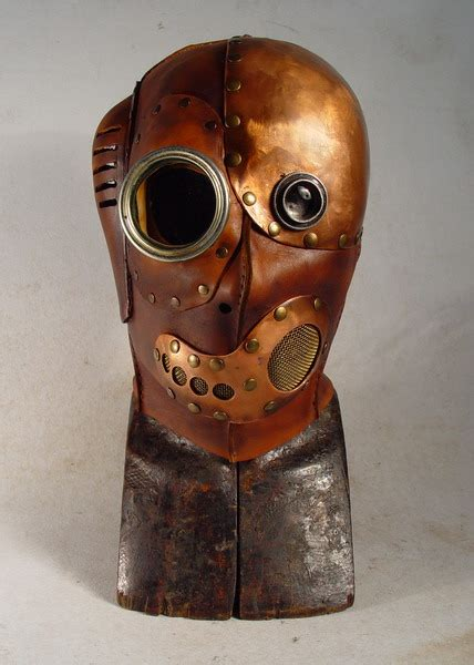 Mask Packs B Liv steunk mask leather cuprum glass