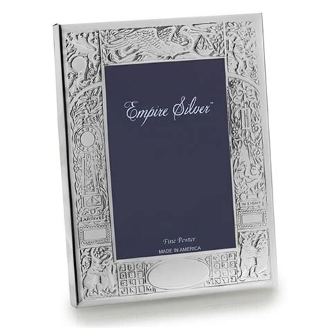 Birth Record Frame Empire Pewter Birth Record Frame 4 X 6