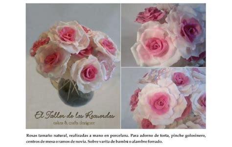 de tortas en porcelana fra bouquet de rosas para decorar torta de rosas artesanales en porcelana fria bellisimas flores