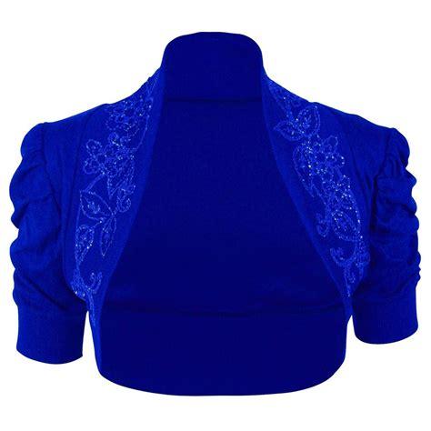 womens cotton beaded ruched bolero puff sleeve shrug