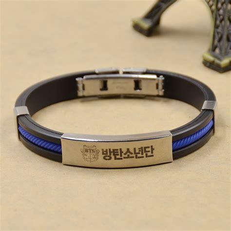 Kpop BTS Bangtan Boys Titanium Steel Bracelet Fans Wristband Bangle Cool Unisex   eBay