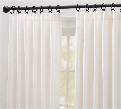 pottery barn silk curtains 99 119 dupioni silk pole pocket drape with blackout
