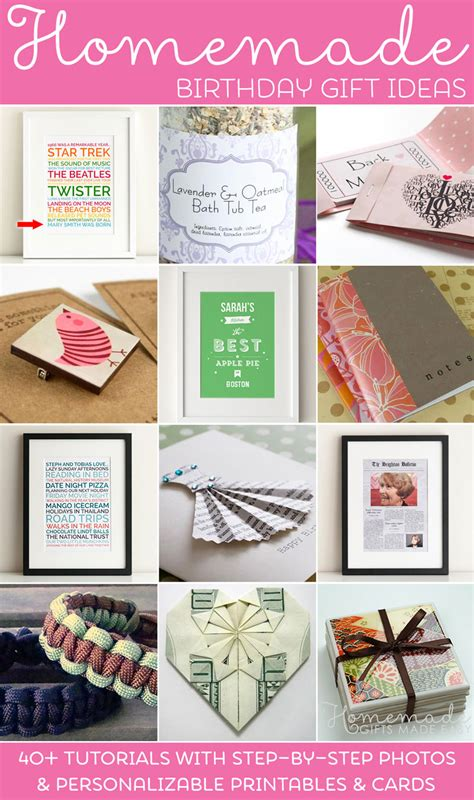 Handmade Birthday Gift Ideas For - birthday gifts ideas