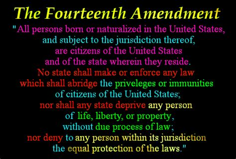 What Does Section 2 Of The 14th Amendment by 14th Amendment In Technicolor It S All In The