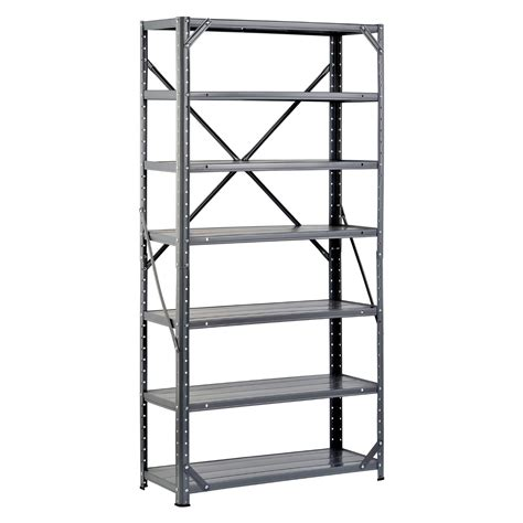 edsal shelving unit 7 shelf steel 12 x 30 x 60 in just