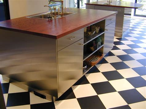 stainless steel topped kitchen islands stainless steel cabinets custom