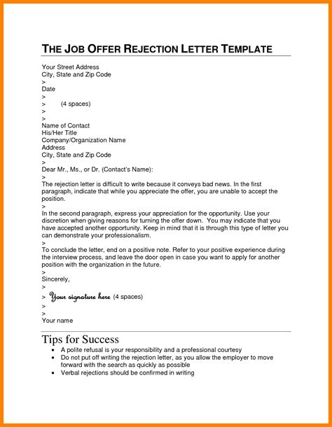 Reject An Offer Letter You Already Signed 10 How To Respond To A Rejection Email Sle Fancy Resume