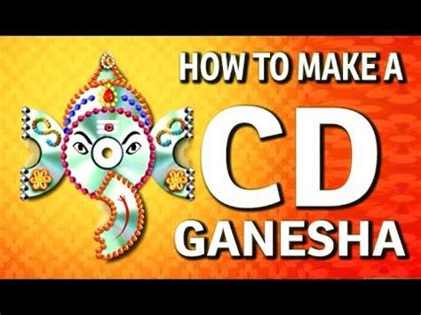 Ganpati Decoration At Home how to make a wall hanging cd ganesha waste cd craft