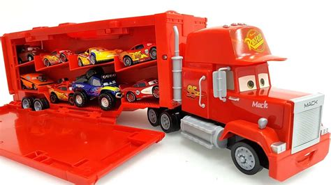 lighting mcqueen and mack construction disney pixar cars mack truck hauler