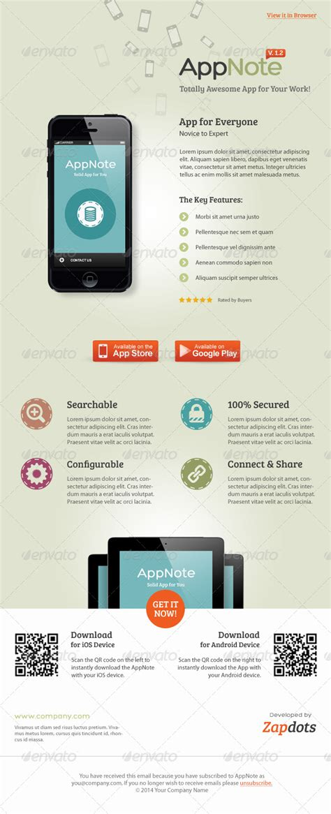 Mobile App E Newsletter Psd Templates By Kinzi21 Graphicriver Mobile Newsletter Template